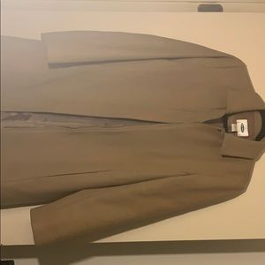 Camel long coat size medium